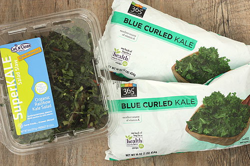 frozen and boxed kale