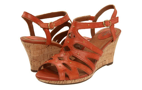Clarks Fiddle String wedge sandal