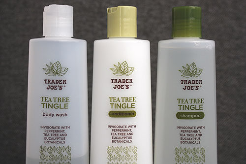Trader Joes Tea Tree Tingle shampoo, conditioner and body wash