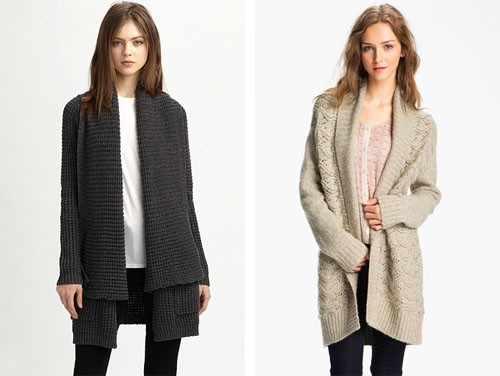 not martha — big cozy wool-free cardigans