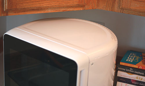 Showing The Rounded Back Of Microwave Cute Huh