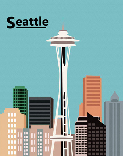 clipart of space needle - photo #33