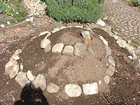 herb spiral, unplanted