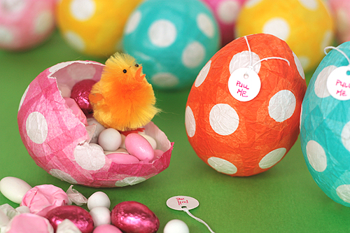 papier-mache easter eggs