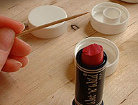 get lip stick shaving for color