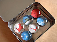 not martha — to make: marble magnets