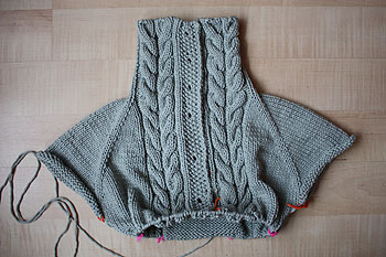 a sweater in progress